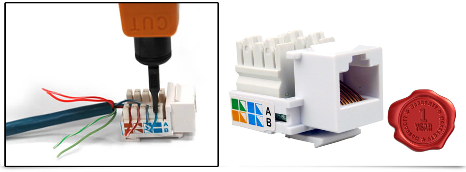 Rj45 Cat5e Cat6e Ethernet Network Keystone Jack Socket