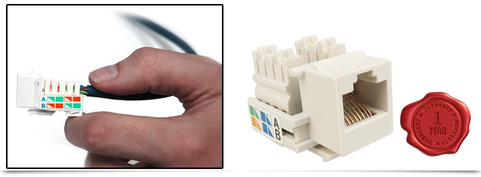 Rj45 Cat5e Cat6e Ethernet Network Keystone Jack Socket