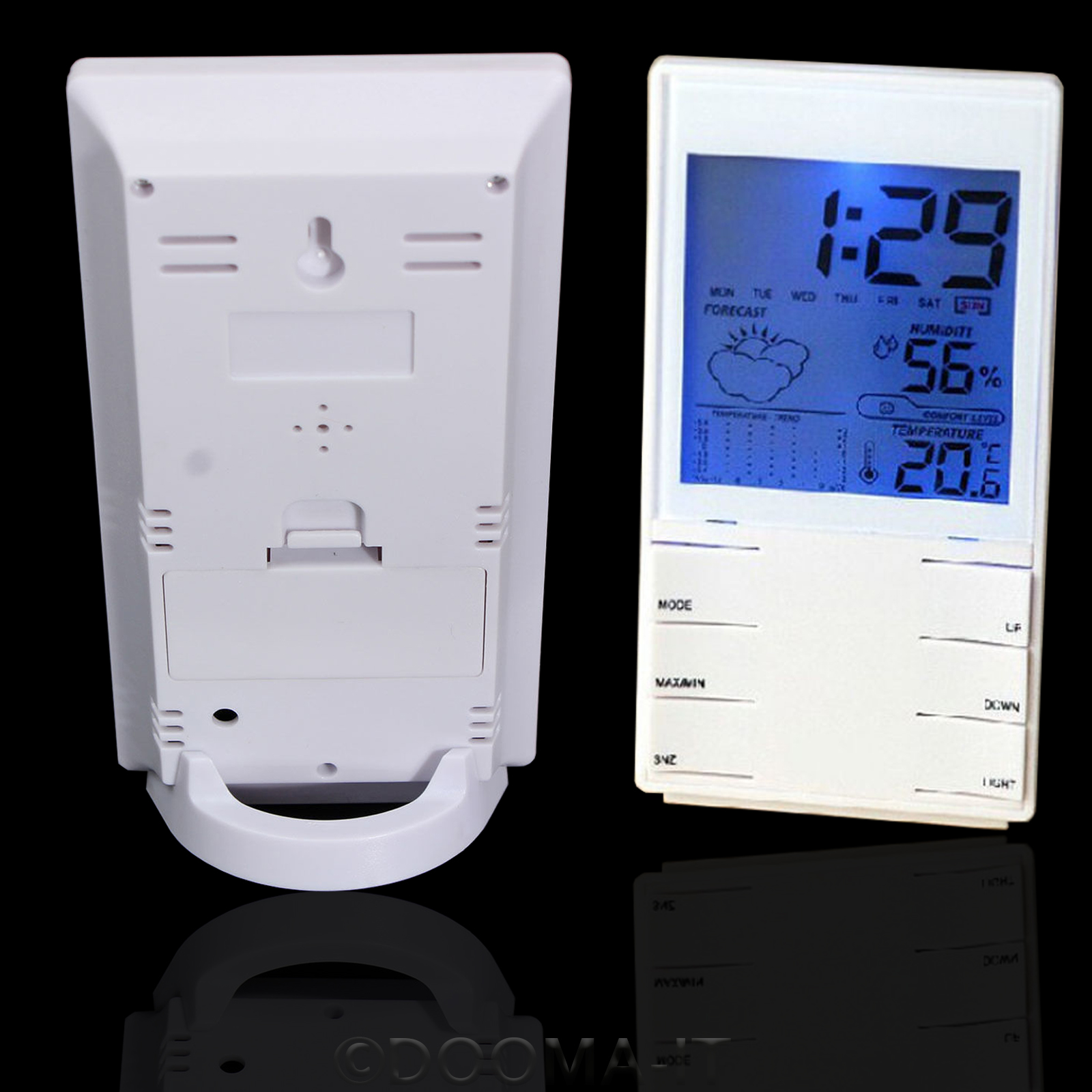 digital lcd thermometer humidity meter room temperature. Black Bedroom Furniture Sets. Home Design Ideas