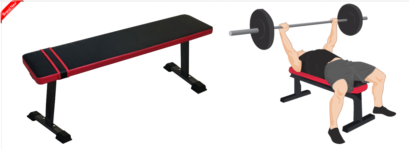 Flat Lifting Exercise Workout Home Gym Bench Press Up Fitness Ab Dumbell Board Ebay