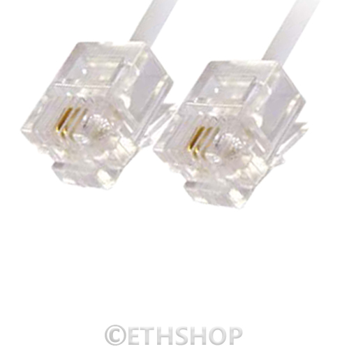rj11 dsl adsl phone broadband cable lead 2m 3m 5m 8m 10m 12m 15m 20m 23m 25m 30m ebay. Black Bedroom Furniture Sets. Home Design Ideas