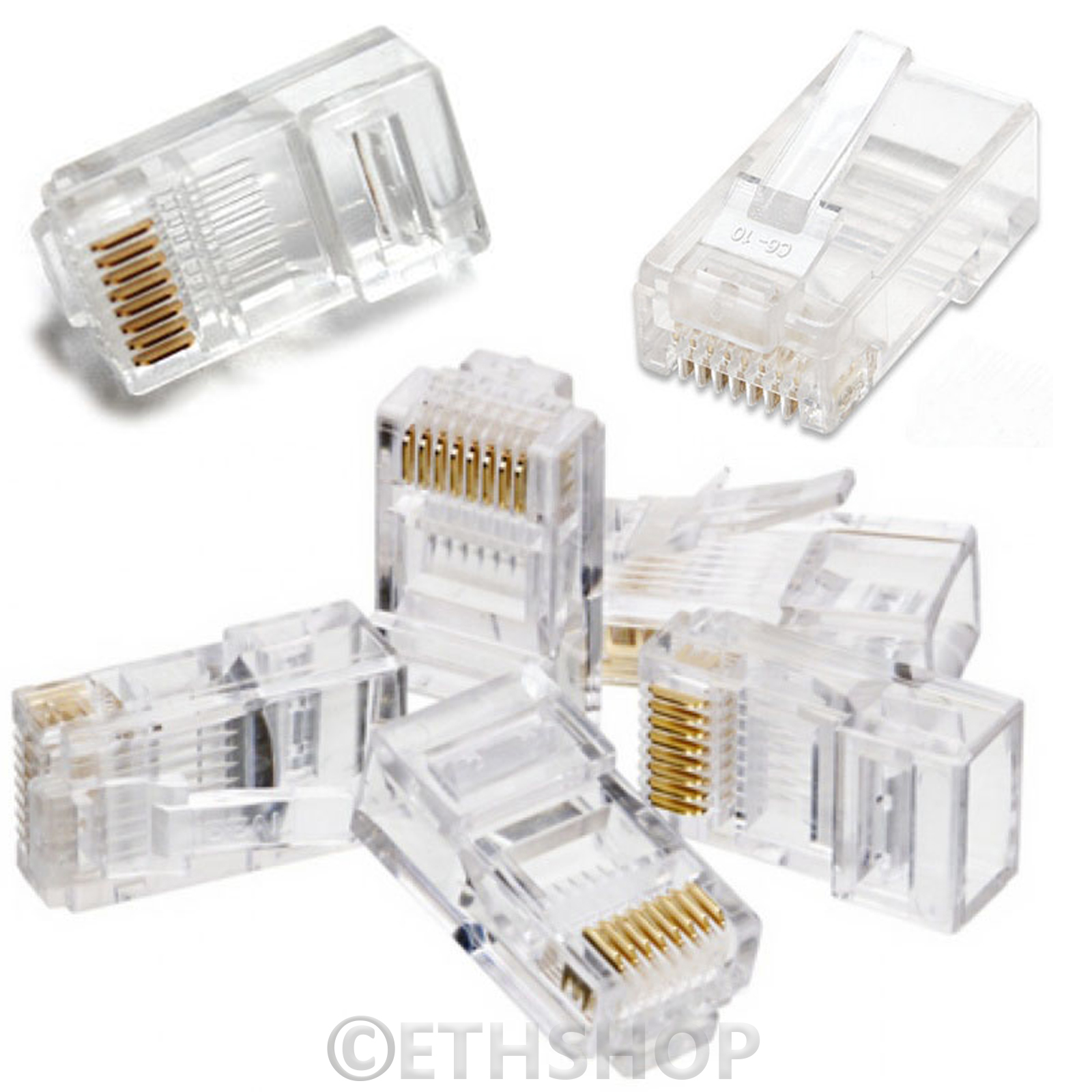 RJ45-Network-Lan-Cat5e-6e-Gigabit-Bulk-Keystone-Cable-Lead-30M-40m-50M-100M-150M