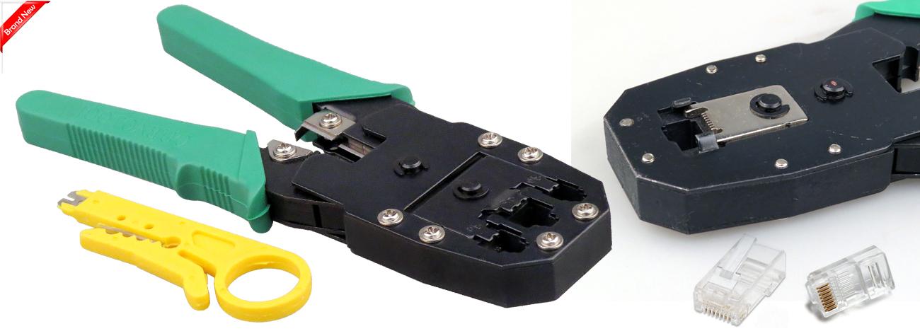 rj45 cat5e network lan cable crimping crimper tool 10 free. Black Bedroom Furniture Sets. Home Design Ideas