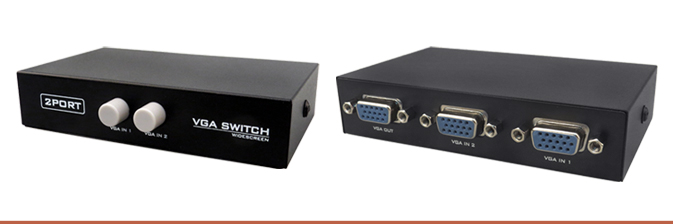 how to connect two monitors with one vga port